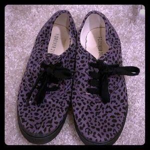 Purple Cheetah Sneakers